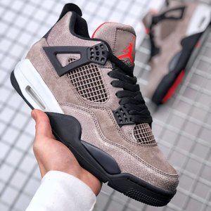 """Air Jordan 4 """"Taupe Haze"""" Black Brown"""